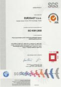 Certifikat ISO 9001:2008 tvrtke Eurogast d.o.o.